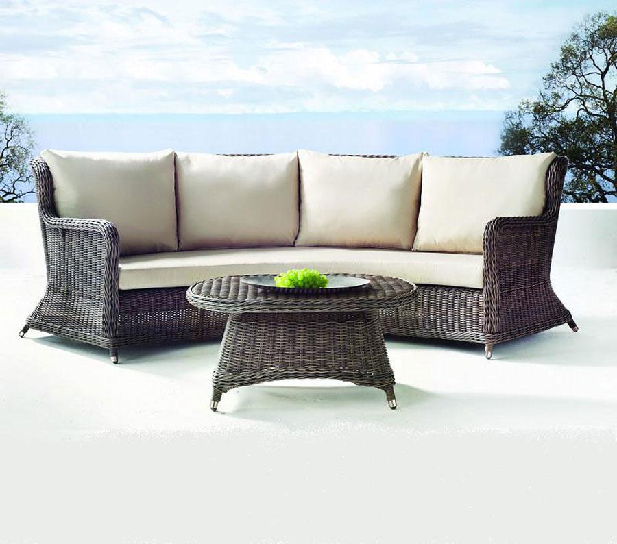 Palma curved sofa inside out st lucia for Furniture palma