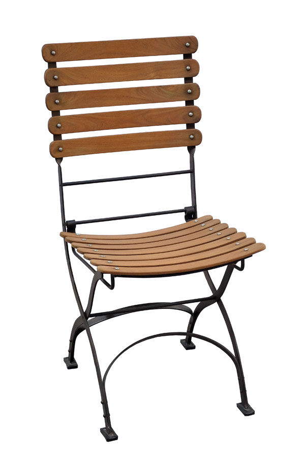 Toscana Iron/Teak Folding Chair