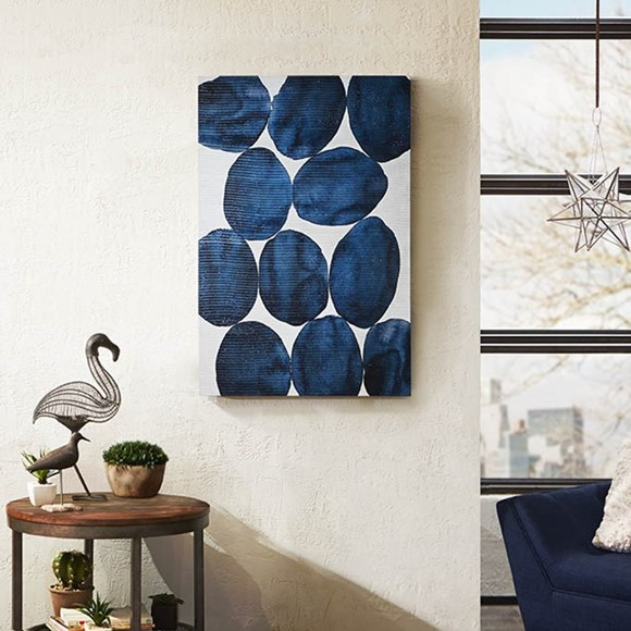 Blue painted puzzle