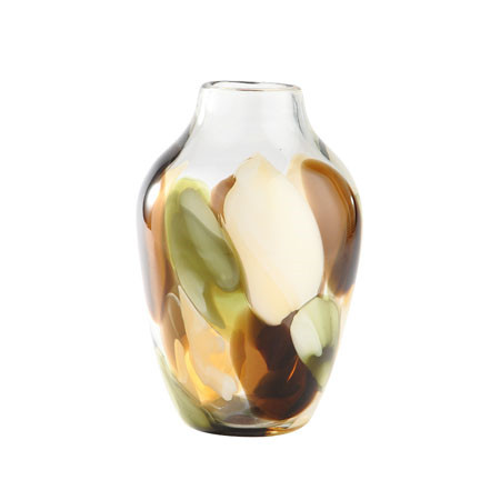 95brown Glass Vase Inside Out St Lucia