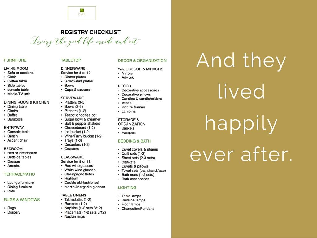 Wedding Gift Registry 1